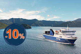 10% OFF New Zealand Sailings with Bluebridge
