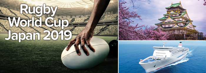 Rugby World Cup Japan 2019: follow your team by ferry